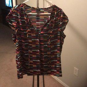 Capped sleeve Worthington shirt
